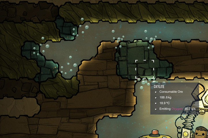 Oxylite - Minerals, rocks and metals | Resources - Resources - Oxygen Not Included Game Guide