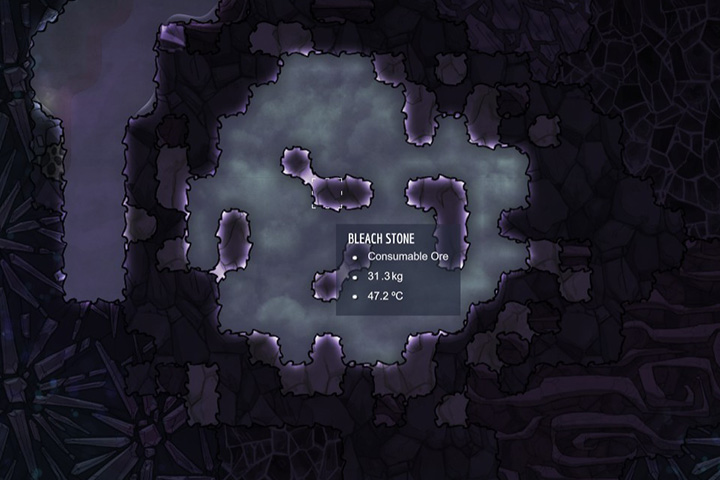 Bleach Stone - Minerals, rocks and metals | Resources - Resources - Oxygen Not Included Game Guide