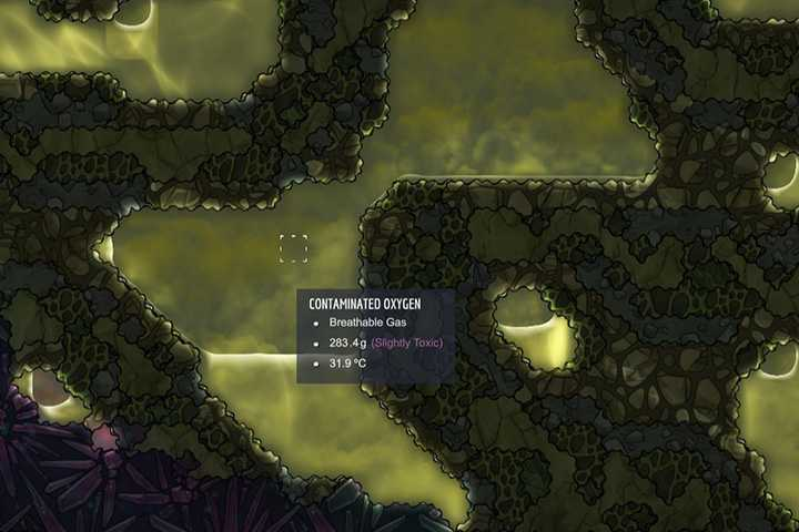 Contaminated Oxygen - Gases | Resources - Resources - Oxygen Not Included Game Guide