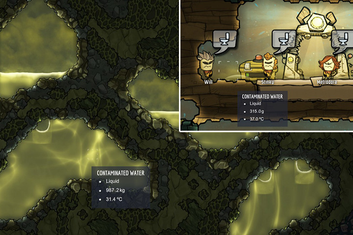Polluted (or Contaminated) Water - Liquids | Resources - Resources - Oxygen Not Included Game Guide