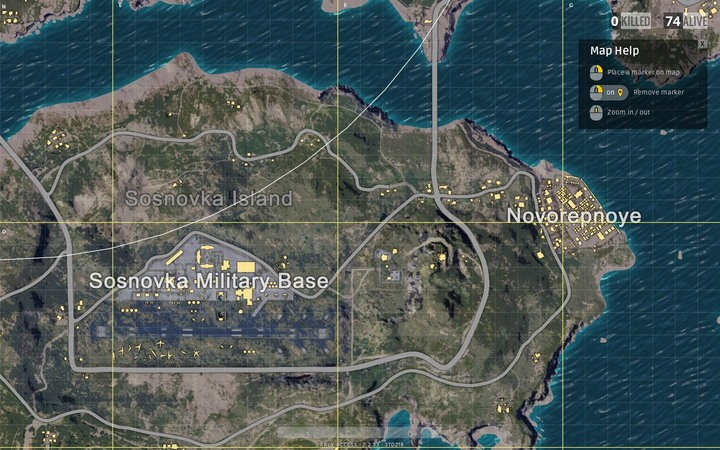 Located on an island, and offering various military buildings - Maps in Playerunknowns Battlegrounds - Game Guide - Playerunknowns Battlegrounds Game Guide