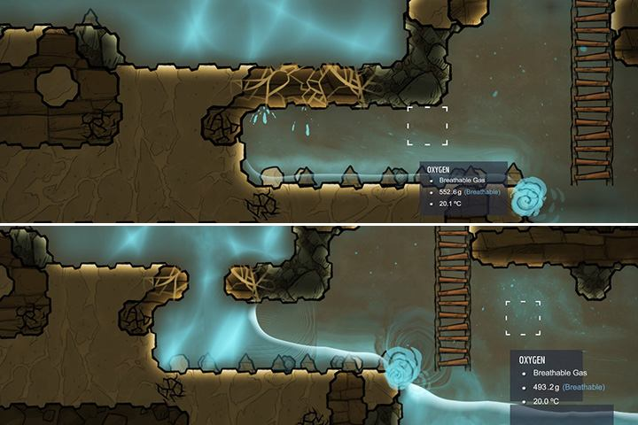 Large water tanks can crush walls and natural barriers. - Several important tips - The Beginning - Oxygen Not Included Game Guide