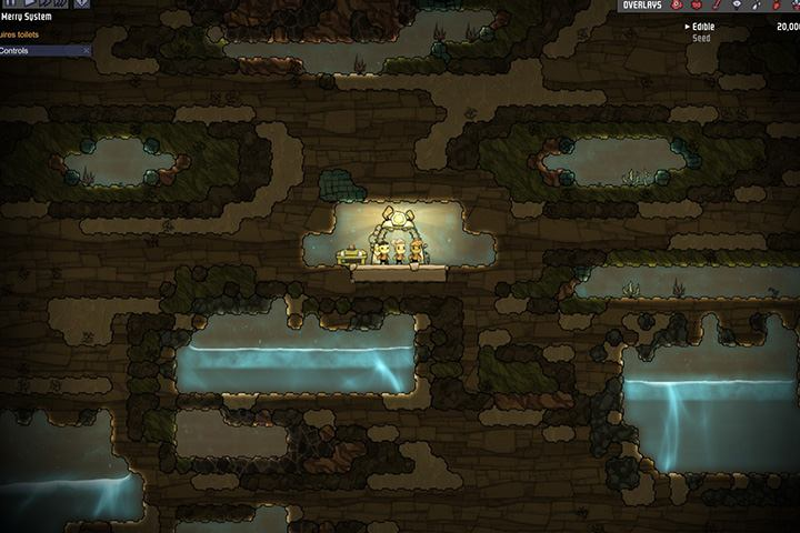 Lots of algae and water. But the metals are missing, they are located only in the upper part. - How to start? - The Beginning - Oxygen Not Included Game Guide