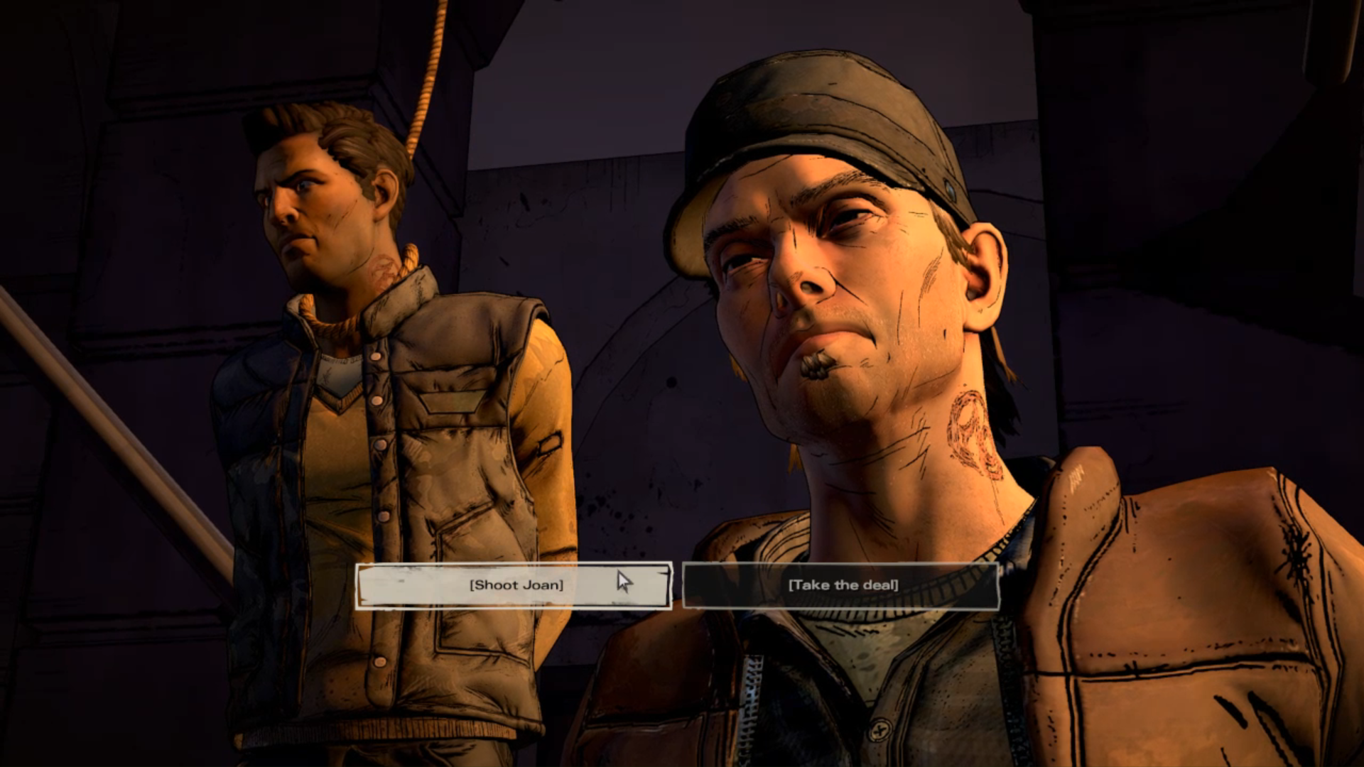 The fifth and the final choice takes place promptly after the fourth one - Important Choices | Episode 4 - Episode 4: Thicker than Water - The Walking Dead: The Telltale Series - A New Frontier Game Guide