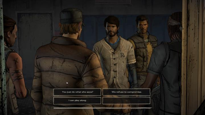 The choice marks the end of the flashback - you are back in jail - Chapter 1 - Faces in the Crowd | Episode 4 - Episode 4: Thicker than Water - The Walking Dead: The Telltale Series - A New Frontier Game Guide