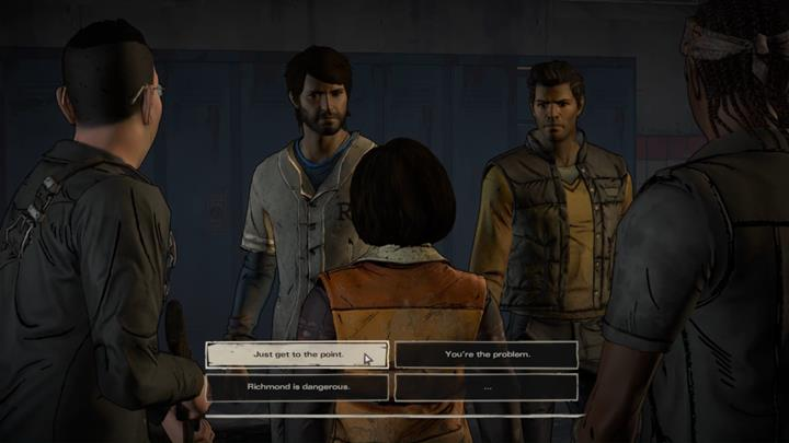 The prisoners are visited by Joan and her guard - Chapter 1 - Faces in the Crowd | Episode 4 - Episode 4: Thicker than Water - The Walking Dead: The Telltale Series - A New Frontier Game Guide