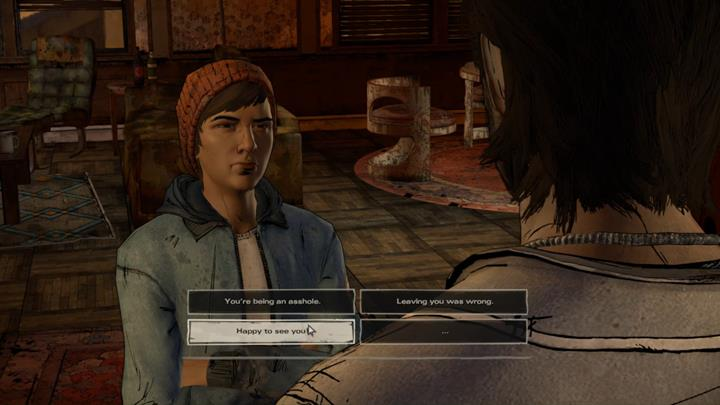 Youll soon reach a safe location guarded by Gabe, who will greet you with a warm welcome - Chapter 2 - Across the Water | Episode 4 - Episode 4: Thicker than Water - The Walking Dead: The Telltale Series - A New Frontier Game Guide