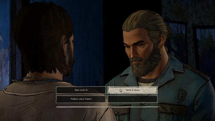 After a moment, Tripp will bend your ear and tell you about his argument with Eleanore - Chapter 2 - Across the Water | Episode 4 - Episode 4: Thicker than Water - The Walking Dead: The Telltale Series - A New Frontier Game Guide