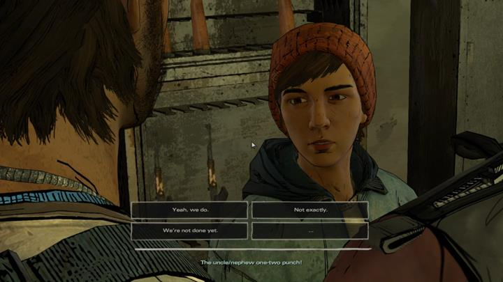 Youve made it to the interior thanks to Gabe, who has managed to distract the guard - Chapter 3 - Prayers for the Dead   Episode 4 - Episode 4: Thicker than Water - The Walking Dead: The Telltale Series - A New Frontier Game Guide