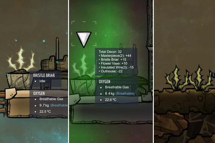 Bristle Briar - Unharvestable - Plants - Oxygen Not Included Game Guide