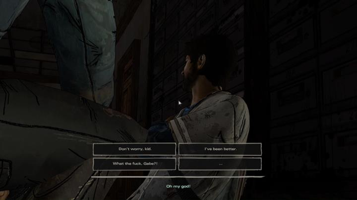 Unexpectedly, Javier encounters Clementine, who browses the contents of the facilitys drawers - Chapter 4 - Blood for Blood | Episode 4 - Episode 4: Thicker than Water - The Walking Dead: The Telltale Series - A New Frontier Game Guide