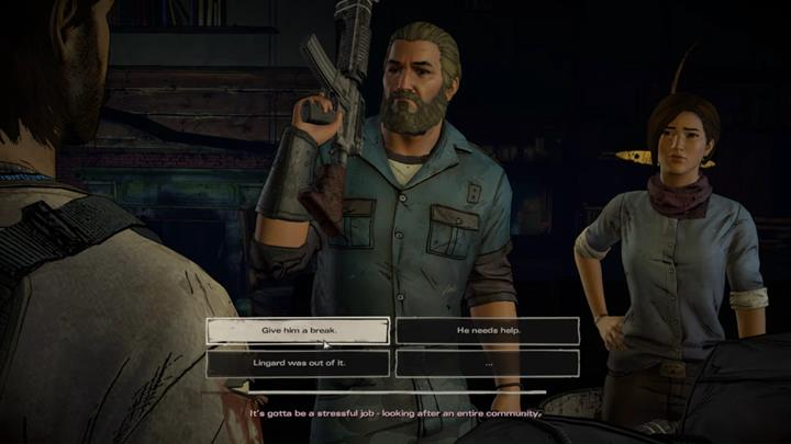 Your return to the groups dwelling is marked by a discussion following the current events and the plan to rescue David - Chapter 5 - Smoke and Fire | Episode 4 - Episode 4: Thicker than Water - The Walking Dead: The Telltale Series - A New Frontier Game Guide