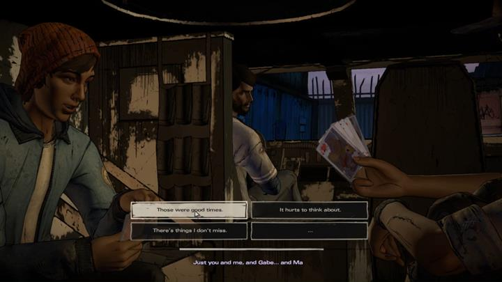 The cut-scene ends with a conversation with Kate - Chapter 6 - The Price of Justice   Episode 4 - Episode 4: Thicker than Water - The Walking Dead: The Telltale Series - A New Frontier Game Guide