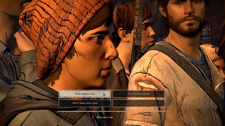 Youll learn that David is to be hanged on the main square - Chapter 6 - The Price of Justice   Episode 4 - Episode 4: Thicker than Water - The Walking Dead: The Telltale Series - A New Frontier Game Guide