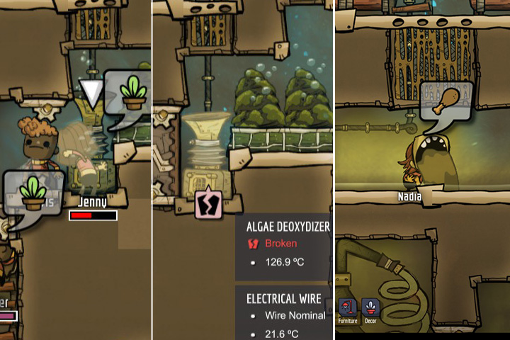 Duplicates can destroy objects or vomit as a result of stress. - Profile - Duplicants - Oxygen Not Included Game Guide