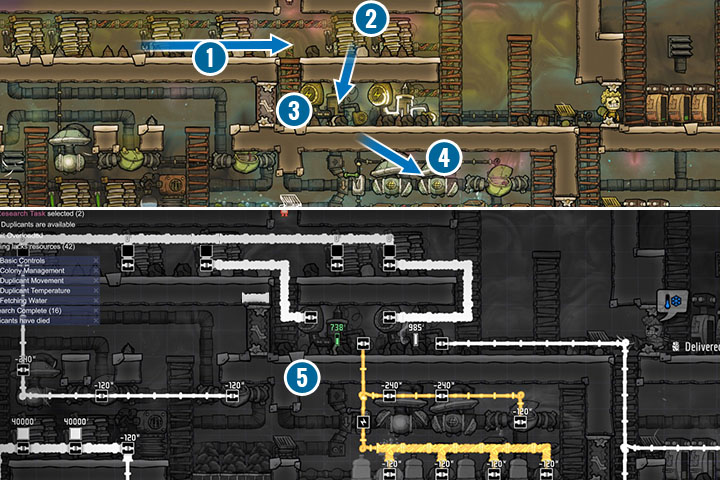 In order to provide devices with power, as in reality, you will use electrical wires and Heavy-Watt Wire (1) - Power - Description of objects and structures - Oxygen Not Included Game Guide
