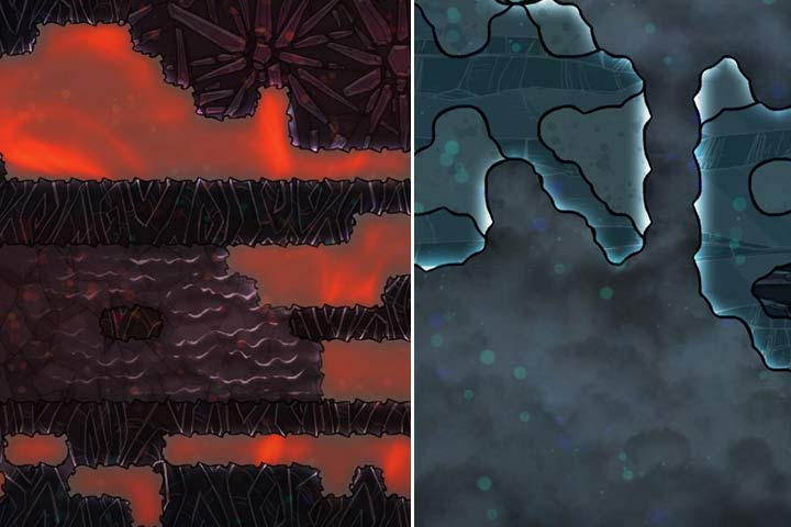 Temperatures in a room, cave or of the minerals themselves can be recognized by the small bubbles floating around and their colors. If there are none, it means the temperature is ok. - Diseases and temperature - The Beginning - Oxygen Not Included Game Guide