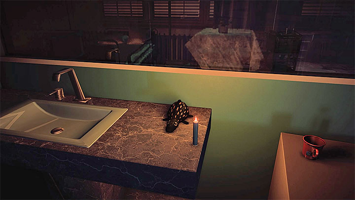 Memorize the items that stand close to the lit candles in the first room - The Grace_Kidnapping files | Red | Walkthrough - Red - Get Even Game Guide
