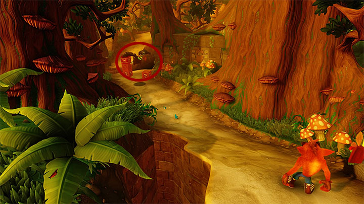 The first encounter with the aforementioned enemy takes place soon after the beginning of the stage - The Pits | Crash Bandicoot 2 | Levels - Crash Bandicoot 2 - Jungle Warp Room - Crash Bandicoot N. Sane Trilogy Game Guide