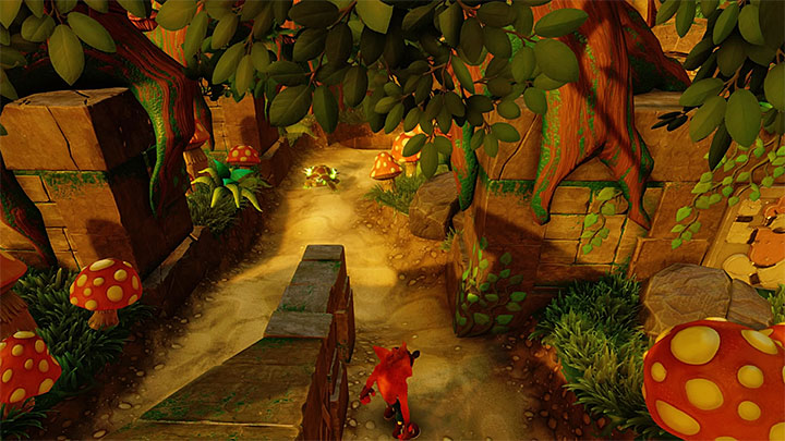 Return to the aforementioned junction and choose the second path - The Pits | Crash Bandicoot 2 | Levels - Crash Bandicoot 2 - Jungle Warp Room - Crash Bandicoot N. Sane Trilogy Game Guide