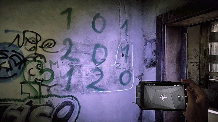 Add all the numbers in the marked area - How to deal with the electronic door in the asylum (Black)? - Solving the puzzles - Get Even Game Guide