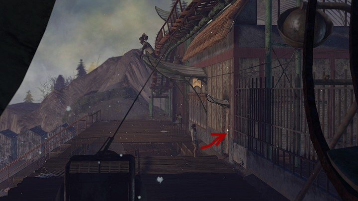 Enter the building through the door shown above - you will find yourself in the workshop; leave it on the other side - Find a way to tug Krystal and release the ostriches | Chapter five | Walkthrough - Chapter five - Syberia 3 Game Guide
