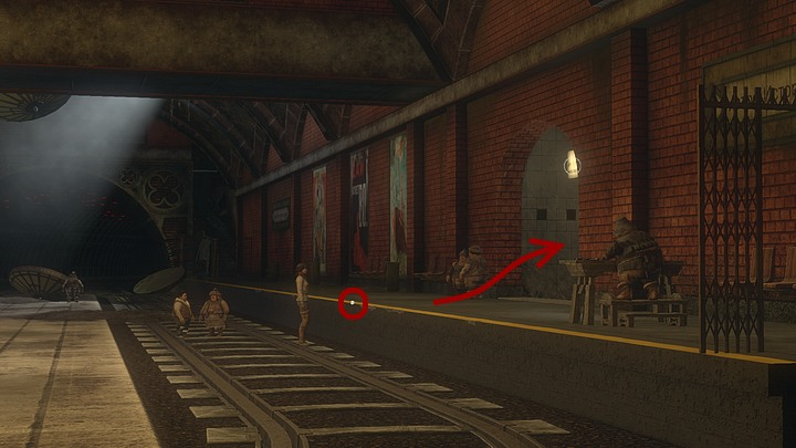 Talk the situation through with them - and then climb onto the platform (theres an active point right there - weve highlighted it above) - Get rid of the bats | Chapter six | Walkthrough - Chapter six - Syberia 3 Game Guide