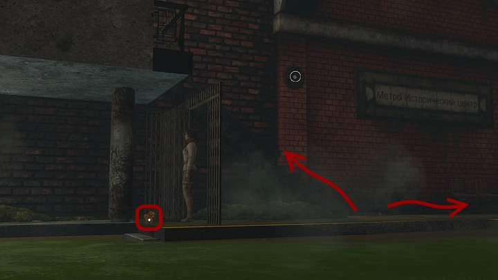First, make a couple of steps to the left and pick up the seaweed next to that big column - Get rid of the bats | Chapter six | Walkthrough - Chapter six - Syberia 3 Game Guide