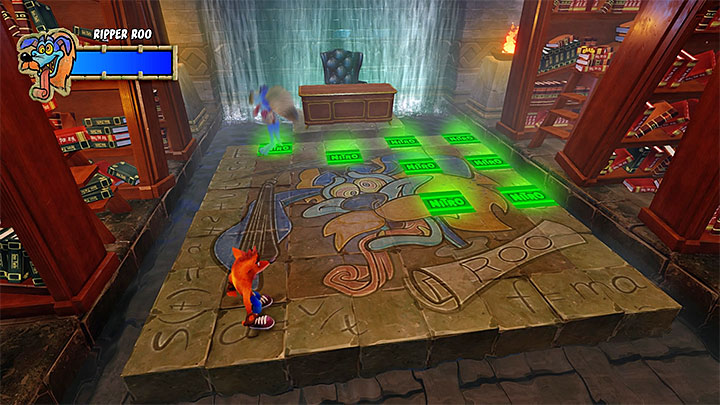 The second phase is pretty much the same, and sees you avoid nitroglycerin charges - Ripper Roo | Boss Fights in Crash Bandicoot 2 - Crash Bandicoot 2 - Crash Bandicoot N. Sane Trilogy Game Guide