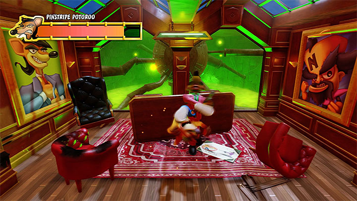 Dont move from behind the cover until the time is right - Pinstripe Potoroo | Boss Fights in Crash Bandicoot - Crash Bandicoot - Crash Bandicoot N. Sane Trilogy Game Guide