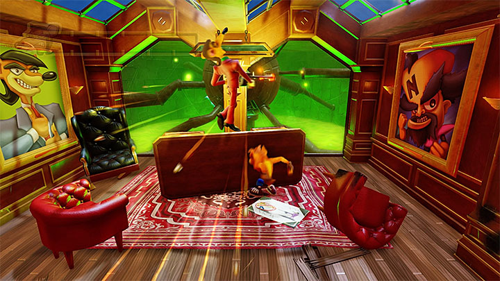 Attack the boss when his weapon jams again - Pinstripe Potoroo | Boss Fights in Crash Bandicoot - Crash Bandicoot - Crash Bandicoot N. Sane Trilogy Game Guide