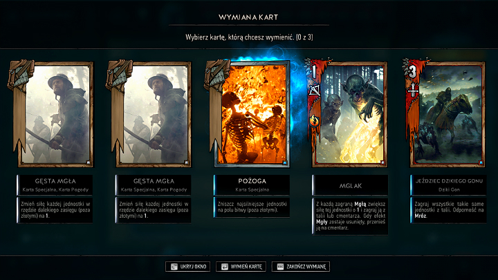 After youve chosen a deck and found an opponent, the so-called Mulligan, which is drawing cards for the game, starts - Course of The Game | Gameplay Basics - Gameplay Basics - Gwent: The Witcher Card Game Guide