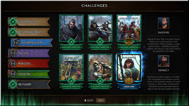 In this mode, the player can play the tutorial, which explains the gameplay basics very well - Main Menu and Game Modes | Gameplay Basics - Gameplay Basics - Gwent: The Witcher Card Game Guide