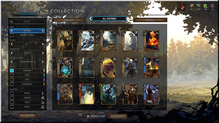 Common cards can be recognized by a white square in their bottom right corner - Card Rarity | Card Types - Card Types - Gwent: The Witcher Card Game Guide