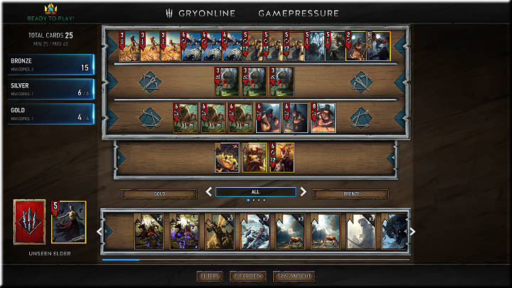 Then, it devours another unit every two turns, so if you place a Gold card on its right side, Vran Warrior becomes useless - Positions of Cards | Card Types - Card Types - Gwent: The Witcher Card Game Guide