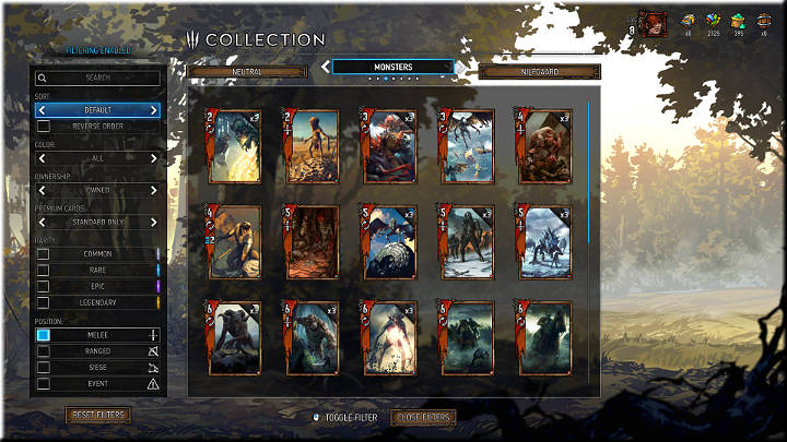 Melee units can be recognized by the sword icon right under the attack point number - Positions of Cards | Card Types - Card Types - Gwent: The Witcher Card Game Guide