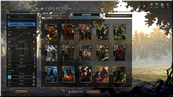 Ranged units have a crossbow icon - Positions of Cards | Card Types - Card Types - Gwent: The Witcher Card Game Guide