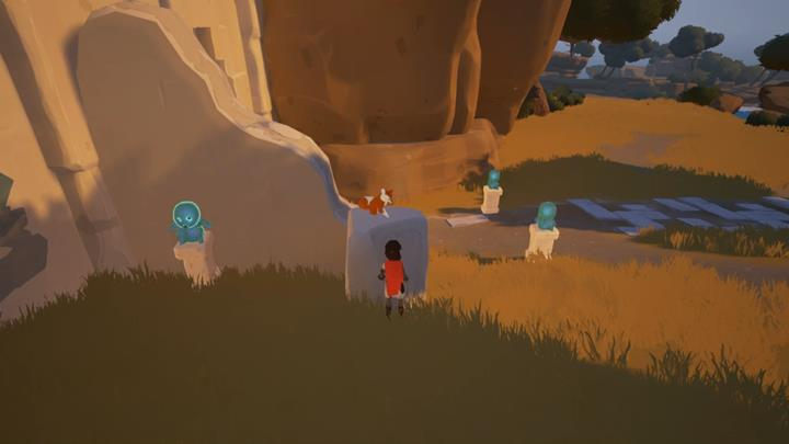 Stand so that all the figurines are highlighted and use the voice of the main character . - Puzzles with the gates | Chapter 1 - Walkthrough - Chapter 1 - Rime Game Guide