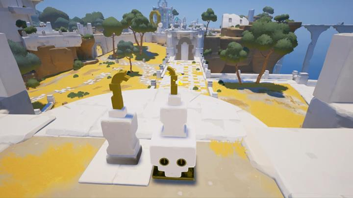 Using the frame fragments, you can form the door. - Puzzles with the gates | Chapter 1 - Walkthrough - Chapter 1 - Rime Game Guide