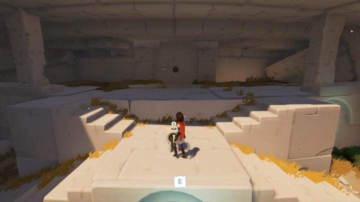 Collect the key and put it into the wall. - Coliseum and the first key | Chapter 1 - Walkthrough - Chapter 1 - Rime Game Guide