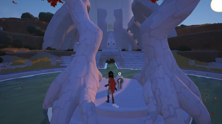 You will find the first key fragment at the foot of the tree. - Coliseum and the first key | Chapter 1 - Walkthrough - Chapter 1 - Rime Game Guide