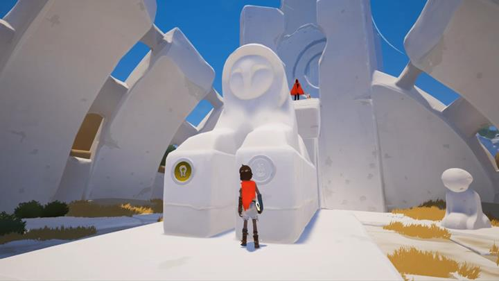 Obtain the second key and place it at the foot of the Sphinx. - Obtain the second key | Chapter 1 - Walkthrough - Chapter 1 - Rime Game Guide