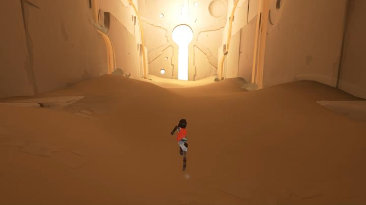 Go through the passage up ahead to reach a completely new location, and complete the first chapter of the game. - Way to the tower | Chapter 1 - Walkthrough - Chapter 1 - Rime Game Guide