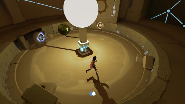 Position the orb in the way shown in the above screenshot and approach the second sun symbol. - Meeting the beast and the first mill | Chapter 2 - Walkthrough - Chapter 2 - Rime Game Guide