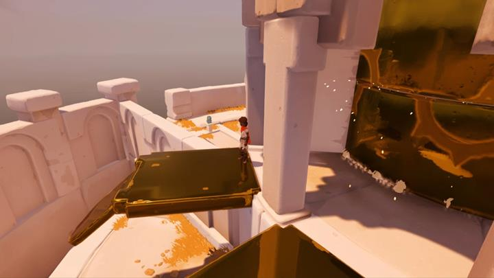 Hop over the wall towards the figurine. - Meeting the beast and the first mill | Chapter 2 - Walkthrough - Chapter 2 - Rime Game Guide