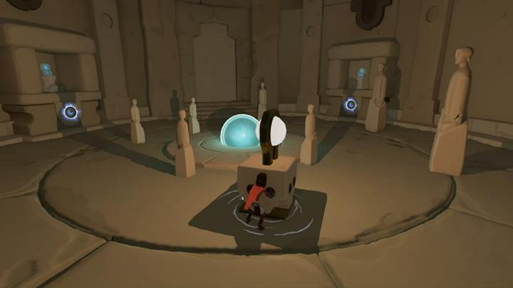 Cover two of the symbols activate the orb and use your own shadow to cover the third symbol. - The second mill | Chapter 2 - Walkthrough - Chapter 2 - Rime Game Guide