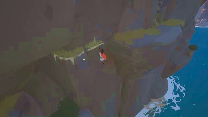 Reaching the third figurine requires a little bit of acrobatics . - Activation of the four figurines | Chapter 1 - Walkthrough - Chapter 1 - Rime Game Guide