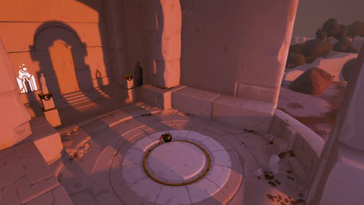 Position the orb in the way shown in the above screenshot and jump onto the pedestal on the right. - Confrontation with the beast and the timelapse puzzle | Chapter 2 - Walkthrough - Chapter 2 - Rime Game Guide