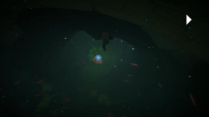 Swim through air bubbles to replenish your oxygen - Crossing the underground river | Chapter 3 - Walkthrough - Chapter 3 - Rime Game Guide