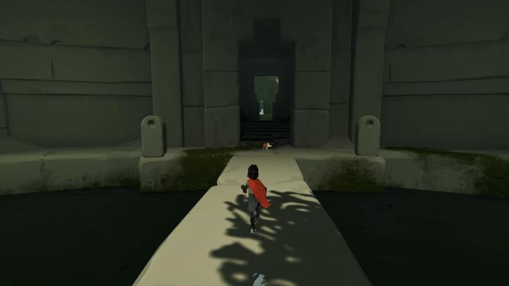 The fox is waiting for you at the end of the walkway - Crossing the underground river | Chapter 3 - Walkthrough - Chapter 3 - Rime Game Guide